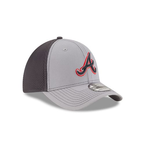 New Era Men's Atlanta Braves 39THIRTY Grayed Out Neo 2 Cap - view number 3