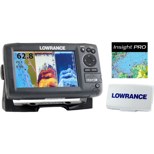 Lowrance Hook-7 Mid/High/Downscan Fishfinder/Chartplotter with