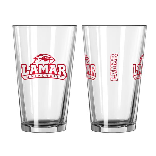 Boelter Brands Lamar University Game Day 16 oz. Pint Glasses 2-Pack