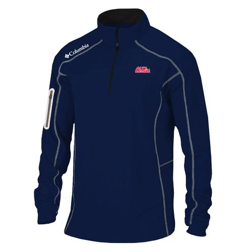 Columbia Sportswear™ Men's University of Mississippi Shotgun 1/4 Zip Pullover