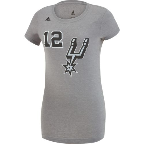 adidas Women's San Antonio Spurs LaMarcus Aldridge No. 12 Replica Name and Number T-shirt