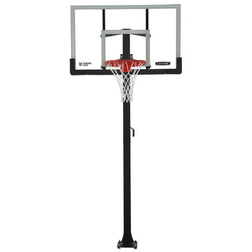 Lifetime 60 in Inground Tempered-Glass Basketball Hoop