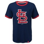 Majestic Youth St. Louis Cardinals Baseball Stripes Ringer T-shirt - view number 1