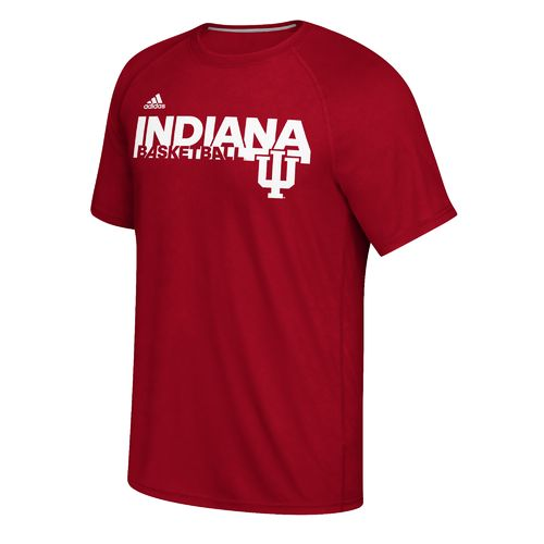 adidas™ Men's Indiana University Sideline Grind climalite® Ultimate T-shirt