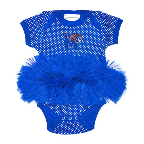 Two Feet Ahead Infants' University of Memphis Pin Dot Tutu Creeper