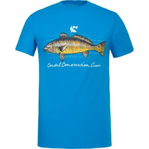 Display product reviews for CCA Men's Redfish Sketch T-shirt