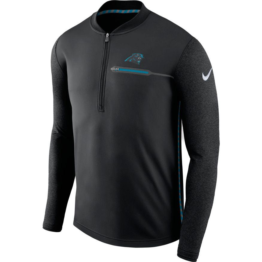 Nike™ Men's Carolina Panthers Coaches 1/2 Zip Pullover
