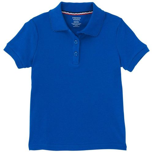 French Toast Girls' Uniform Polo Shirt with Picot Collar
