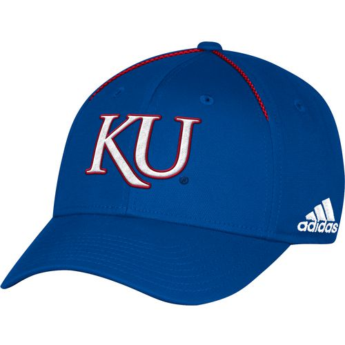 adidas Men's University of Kansas Coach Structured Flex Cap