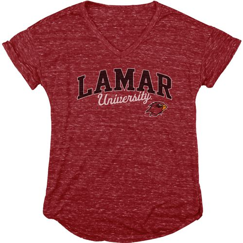 Blue 84 Women's Lamar University Dark Confetti V-neck T-shirt