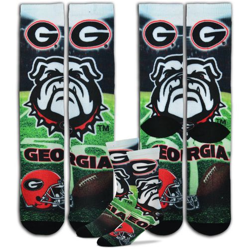 For Bare Feet Men's University of Georgia Mascot Crew Socks