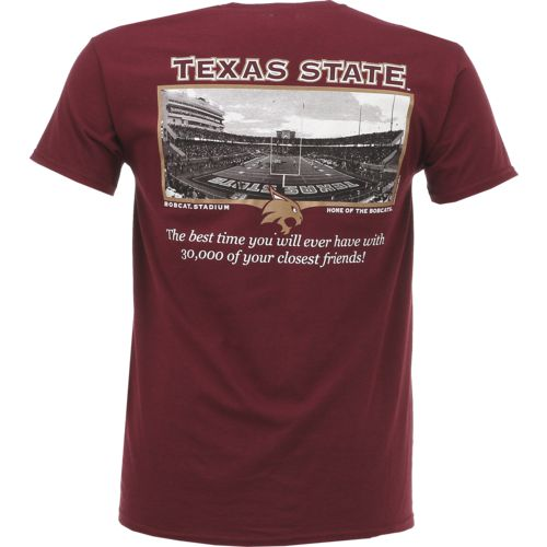 New World Graphics Men's Texas State University Friends Stadium T-shirt