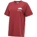 New World Graphics Women's University of Arkansas Comfort Color Puff Arch T-shirt - view number 3