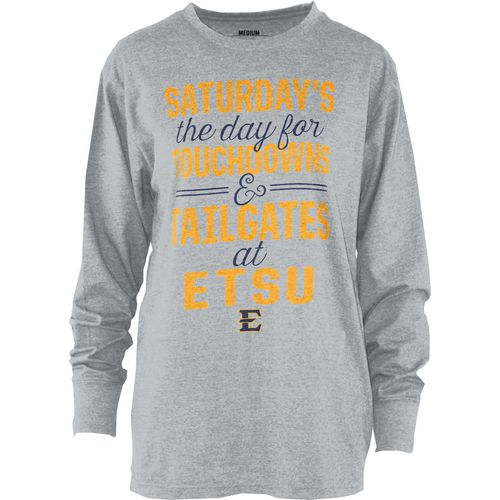 Three Squared Juniors' East Tennessee State University Touchdowns and Tailgates T-shirt