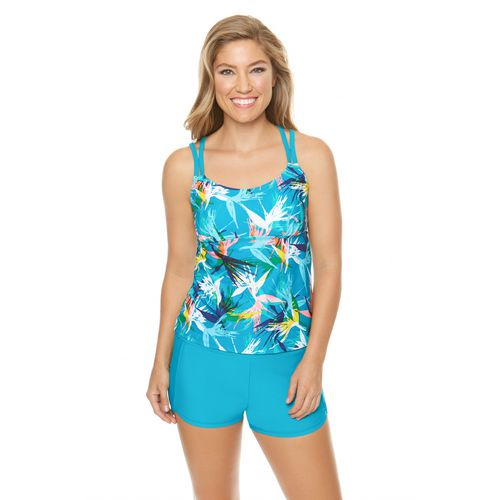 BCG Women's Lost Paradise Tankini Swim Top - view number 2