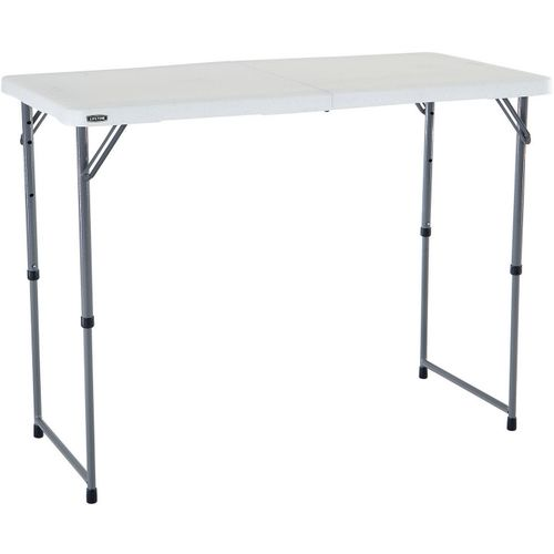 Lifetime 4 ft Light Commercial Adjustable-Height Fold-In-Half Table - view number 5
