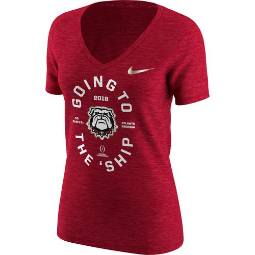 Nike Women's University of Georgia National Championship Game Bound Short Sleeve T-shirt