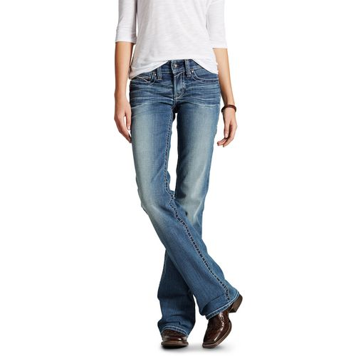 Ariat Women's R.E.A.L. Mid Rise Whipstitch Boot Cut Jeans