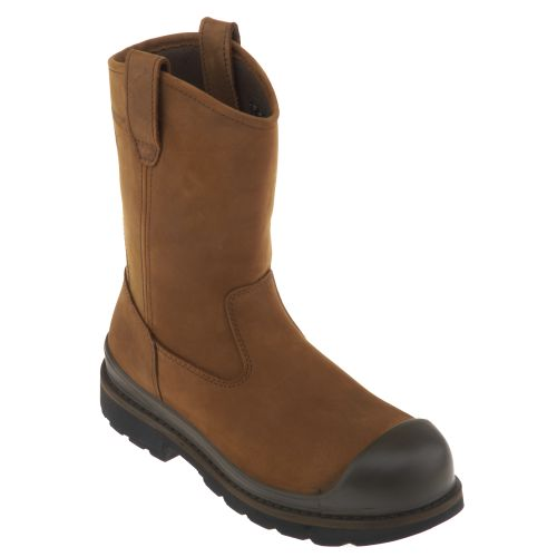 Wolverine Men's Crawford Steel-Toe Wellington Work Boots - view number 2