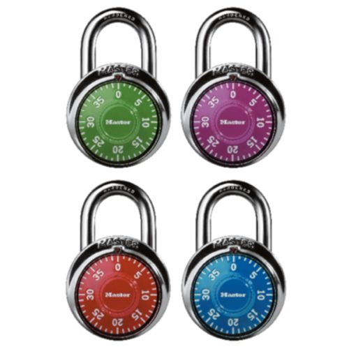 Master Lock® Colored Dial Combination Padlock