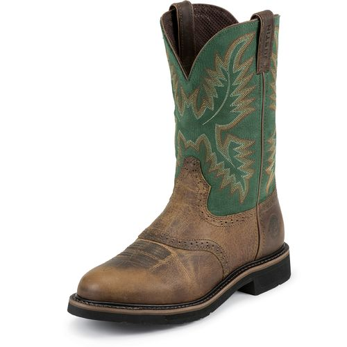 Display product reviews for Justin Men's Rugged Western Work Boots