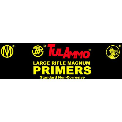 TulAmmo Large Magnum Rifle Primers 100-Pack