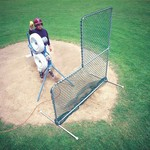 JUGS Travel Ball Quick-Snap® L-Shaped 6.5' x 6' Pitching Screen