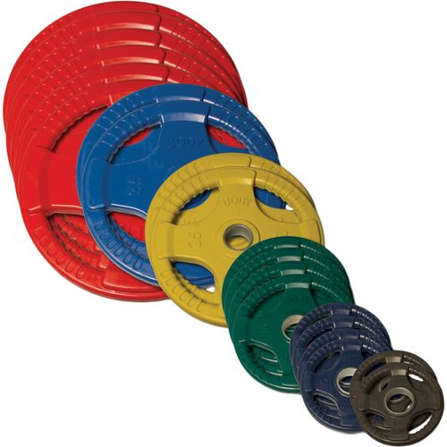 Body-Solid 455 lb. Colored Rubber Grip Olympic Plate Set