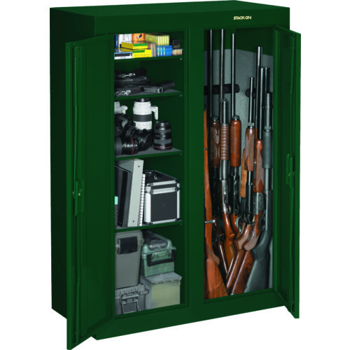 Stack on 31 gun convertible double door security cabinet for 10 gun double door steel security cabinet