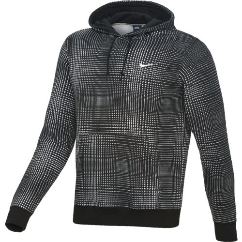 Nike Men s Club AOP Tech Plaid Hoodie