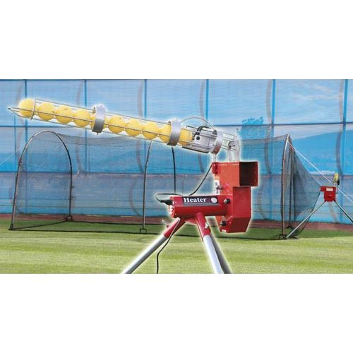 Trend Sports Heater Baseball Pitching Machine and Xtender