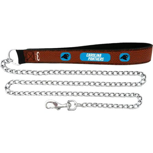GameWear Carolina Panthers Football Leather 2.5 mm Chain Leash