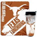 NCAA University of Texas Mug and Snug Fleece Throw and Travel Tumbler Gift Set