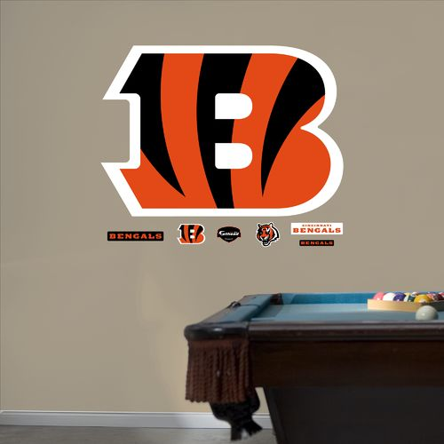 Fathead Cincinnati Bengals B Logo and Team Decals 7-Pack
