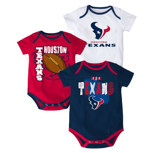 NFL Infant Boys' Houston Texans 3 Point Spread Bodysuits 3-Pack