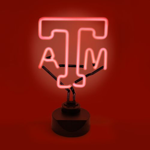 AES Optics Texas A&M University Neon Table Light