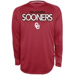 Majestic Men's University of Oklahoma Section 101 Raglan Heather Synthetic T-shirt