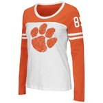 Colosseum Athletics Women's Clemson University Hornet Long Sleeve Football T-shirt