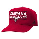 adidas™ Boys' University Louisiana at Lafayette Flat Brim Snapback Cap