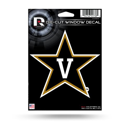 Rico Vanderbilt University Medium Die-Cut Window Decal