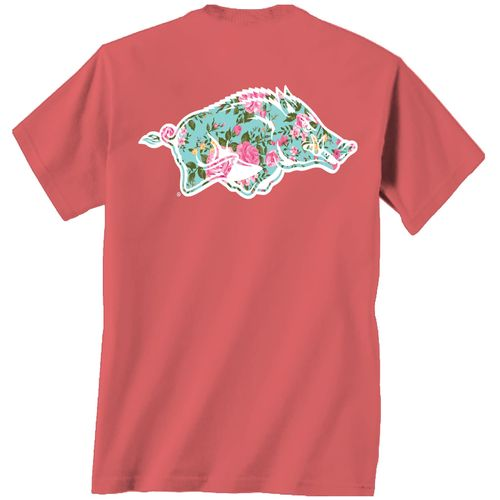 New World Graphics Women's University of Arkansas Floral T-shirt