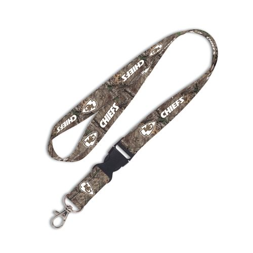 WinCraft Kansas City Chiefs Camo Lanyard with Detachable Buckle