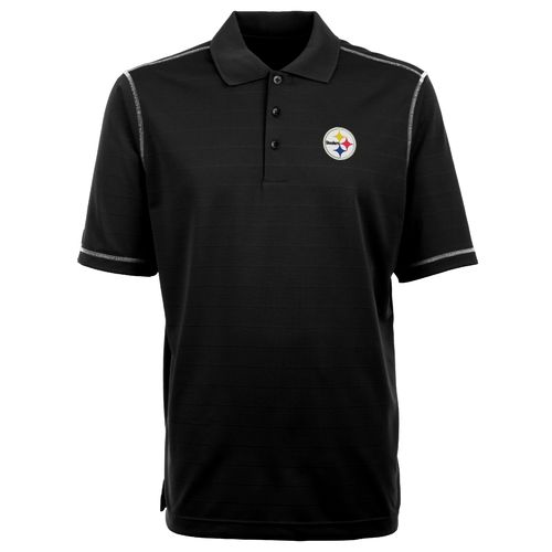 Antigua Men's Pittsburgh Steelers Icon Short Sleeve Polo Shirt