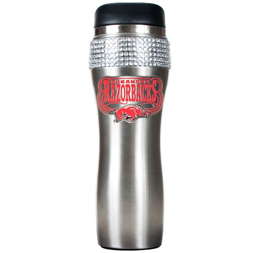 Great American Products University of Arkansas 16 oz. Stainless-Steel Bling Tumbler with Lid
