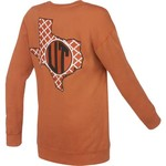 Three Squared Women's University of Texas Quatrefoil Fleece Long Sleeve T-shirt