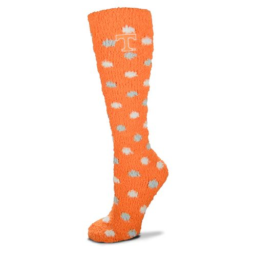 For Bare Feet Women's University of Tennessee Originals Sleepsoft Polka-Dot Knee-High Socks