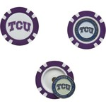 Team Golf Texas Christian University Poker Chip and Golf Ball Marker Set - view number 1