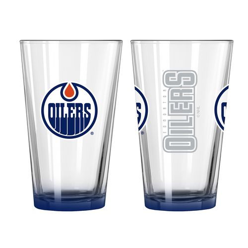 Boelter Brands Edmonton Oilers Elite 16 oz. Pint Glasses 2-Pack