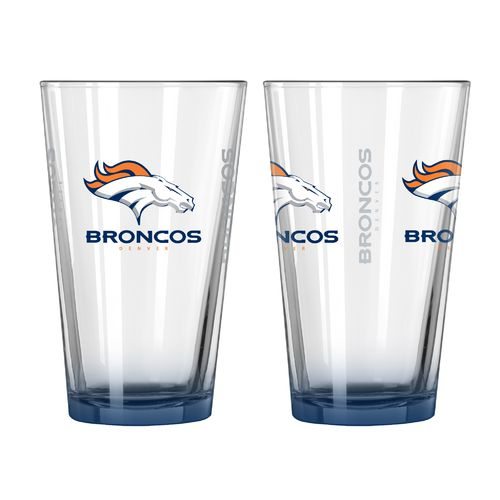 Boelter Brands Denver Broncos Elite 16 oz. Pint Glasses 2-Pack
