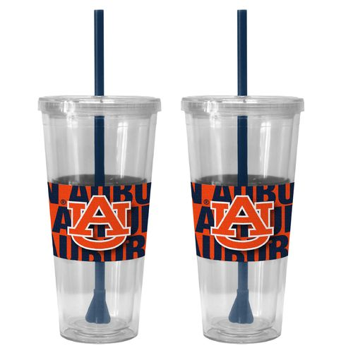 Boelter Brands Auburn University Bold Neo Sleeve 22 oz. Straw Tumblers 2-Pack
